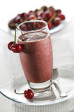 Cherry smoothie Royalty Free Stock Photo
