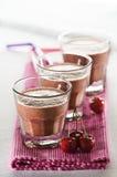 Cherry smoothie Stock Photos