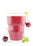 Cherry smoothie Stock Image