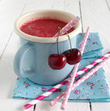 Cherry smoothie Royalty Free Stock Images