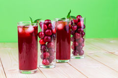 Cherry smoothie Stock Photography
