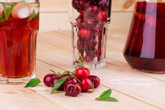 Cherry smoothie Royalty Free Stock Photography