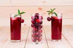 Cherry smoothie Royalty Free Stock Photo