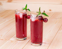 Cherry smoothie Stock Images
