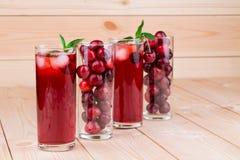 Cherry smoothie Stock Photo