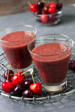 Cherry smoothies Royalty Free Stock Photography