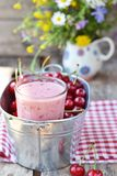 Cherry smoothy Royalty Free Stock Image