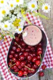 Cherry smoothy Stock Photo