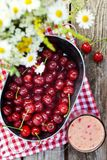 Cherry smoothy Stock Images
