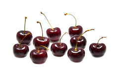 Cherry solated. Cherry on the background of the white Royalty Free Stock Photo