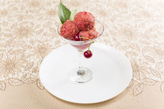 Cherry sorbet Stock Photos