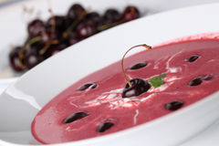 Cherry soup Royalty Free Stock Photos