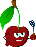 Cherry with a spatula Stock Photo