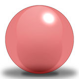 Cherry Sphere - Light. A Light Cherry Colored Sphere, contoured to make it look as if it were reflecting light, and Placed upon a shadow to show where it sits on stock illustration