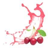 Cherry splash Royalty Free Stock Photography