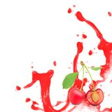 Cherry splash Stock Photo