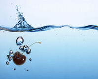 Cherry splash Royalty Free Stock Photos