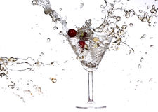 Cherry splashing Royalty Free Stock Photos