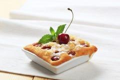 Cherry sponge cake royalty free stock photos