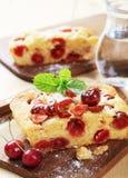 Cherry sponge cake stock photography