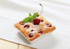 Cherry sponge cake Stock Photos