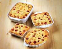 Cherry sponge cakes Royalty Free Stock Photos