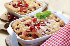 Cherry sponge cakes Stock Photo
