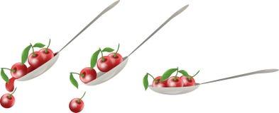 Cherry spoon Stock Images