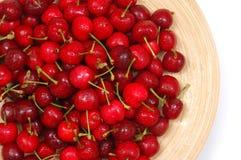 Cherry stänger plattan upp vått Arkivfoto