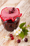Cherry stewed fruit Stock Images