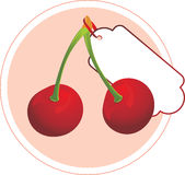 Cherry. Sticker for design Royalty Free Stock Image