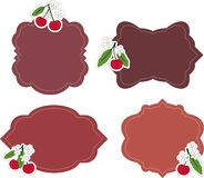 Cherry stickers Royalty Free Stock Photos