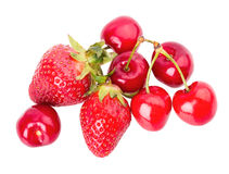 Cherry strawberries Royalty Free Stock Image