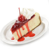 Cherry And Strawberry Cheesecake Stock Image