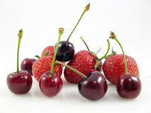 Cherry strawberry fruit food Royalty Free Stock Photography