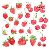 Cherry & Strawberry Royalty Free Stock Photography