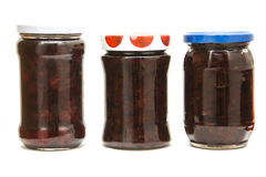 Cherry and strawbery jam  Royalty Free Stock Images