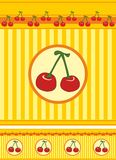 Cherry and stripes. Royalty Free Stock Photo