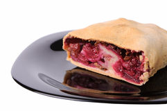 Cherry strudel Stock Images
