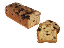 Cherry and Sultana Fruit Cake Royalty Free Stock Photos