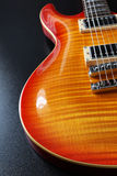 Cherry sunburst electric guitar Stock Photos