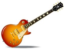 Cherry Sunburst Guitar. The definitive rock and roll guitar in black, isolated over a white background Stock Photo
