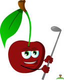 Cherry swinging his golf club Royalty Free Stock Photography