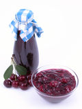 Cherry syrup and jam Royalty Free Stock Image