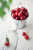 Cherry table trä fotografering för bildbyråer