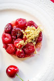 Cherry tarte tatin Stock Photography