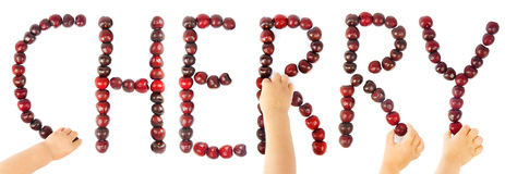 Cherry text Royalty Free Stock Images