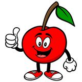 Cherry with Thumbs Up Royalty Free Stock Photos