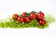 Cherry tomato. Isolated on white Royalty Free Stock Photos