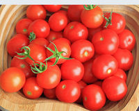 Cherry Tomato. A basket of red cherry tomato Stock Photo